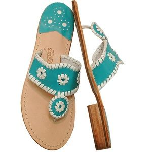 Jack Rogers Navajo Sandals Turquoise / White